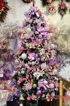 粉嫩色系成品樹