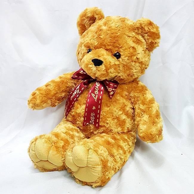 12吋玫瑰紋泰迪熊