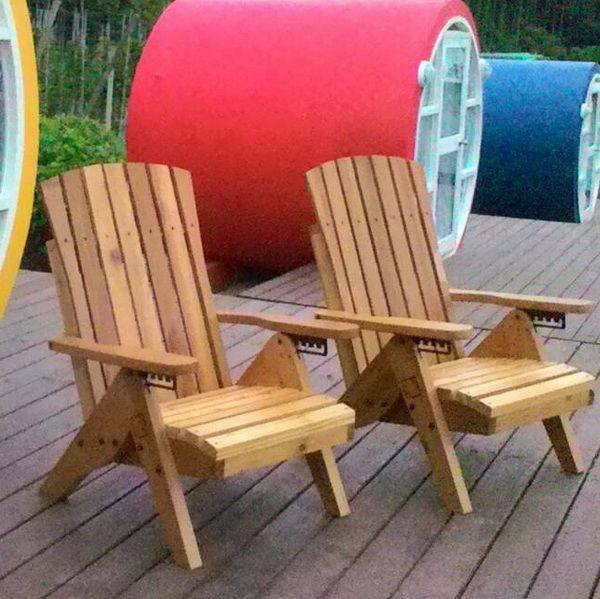 實木休閒躺椅 (美檜香杉)