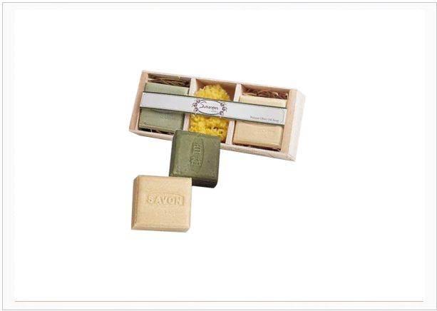 百益陳年橄欖油護膚皂禮盒(2入+天然海綿)