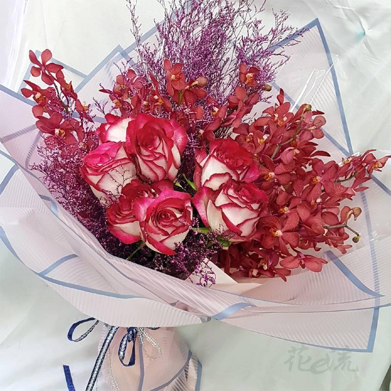 《烈燄深情》情人節進口大朵玫瑰花束