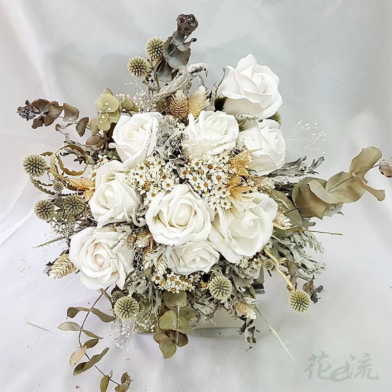 古典乾燥花新娘捧花